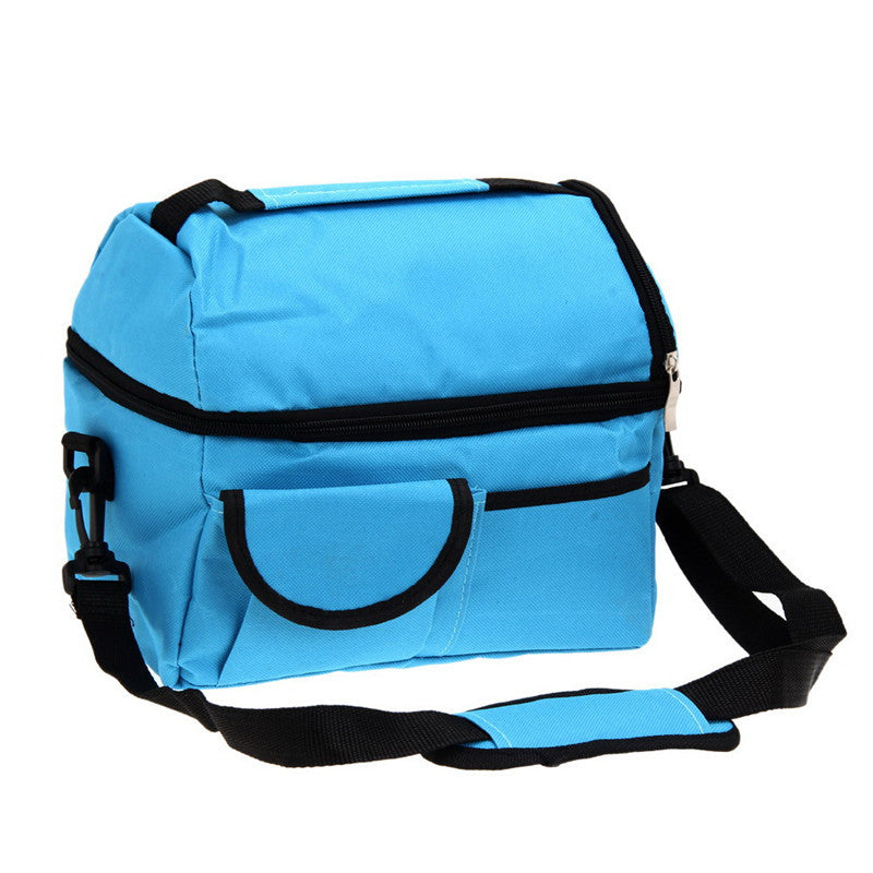 8L Square Thermal Bag Women Men Lunch Bag Cooler Beam Port Lunch Box