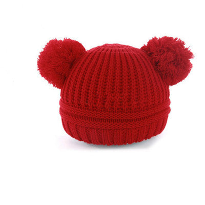 Baby boy and girl  Knitting  Hat Winter Warm  Hairball Ears Lovely