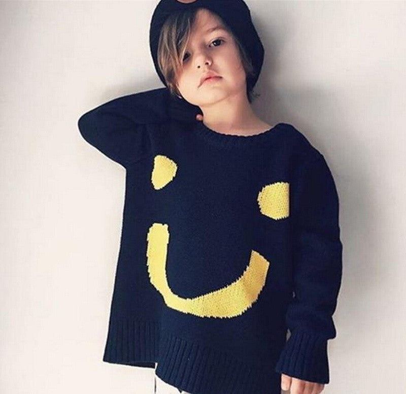 Baby Boys Girls Pullovers Toddler Big Smile Sweater KIDS Bebe Cotton