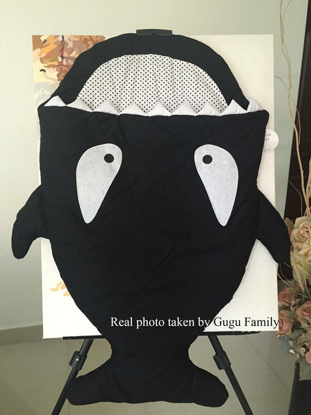 Top quality Cartoon shark sleeping bag Winter Stroller bag Swaddle Wrap Bedding Newborn 9 12 24 month baby Sleepsack warm heavy
