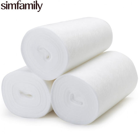 [simfamily]1 Roll Bamboo Flushable Liner,100 Sheets/Roll Biodegradable Disposable For 3-36 Months And 3-15 Kgs Bab