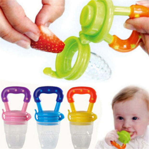 New Soft Safety Silicone Infant Nipple Baby Food Chew Pacifier