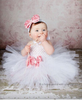 Customized NewBorn baby toddler Stretch Crochet Tube Top saia tutu