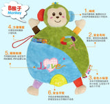 baby appease towel animal Infant Reassure development early educational toy plush placate with Teether