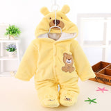 Winter Baby Warm Outwear Cute Newborn Girls Clothes Thick Fleece Overalls for Children Rabbit 3 Colors Baby Rompers CL0432