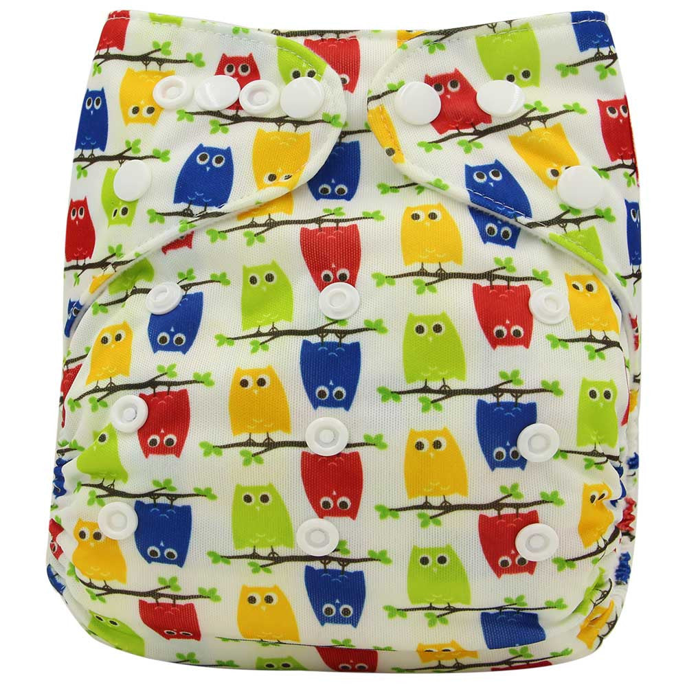 Baby Cloth Diaper Cover Bamboo Velour Fitted Diaper Washable Brand