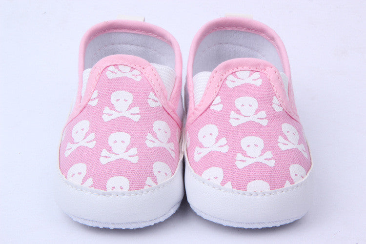 Baby Girl Skull Animal Baby Shoes Skull First Walkers Toddler Shoes