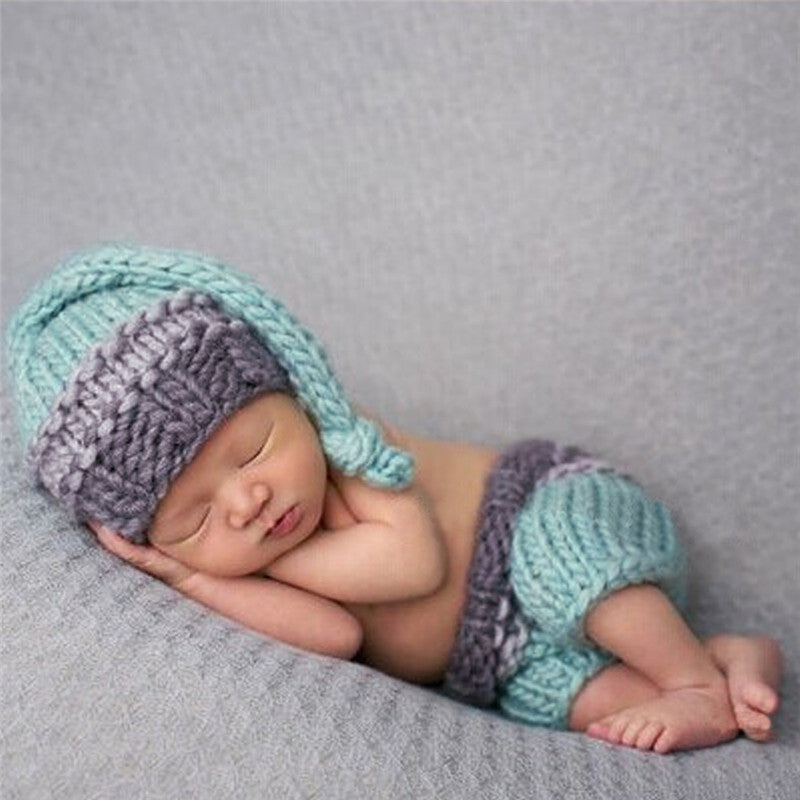 Newborn Baby Photography Prop Photo Crochet Outfits Knit Baby Pants