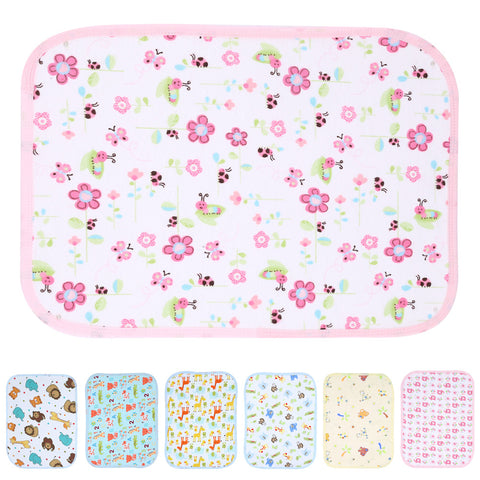 70cm X 50cm Reusable Baby Diapers Mattress Waterproof Sheet Changing Mat Cotton Baby Crib Stroller Pram Waterproof Bed S M