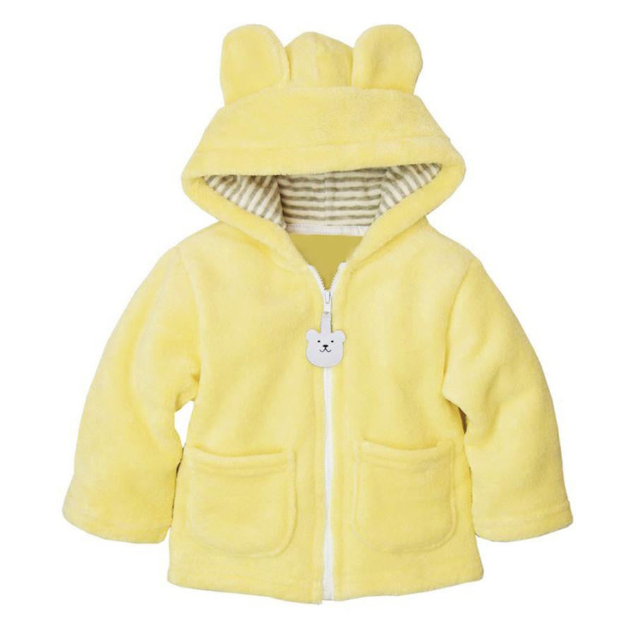 Autumn Winter Baby Girls Sweet Long Sleeve Hooded Thick Warm Jackets