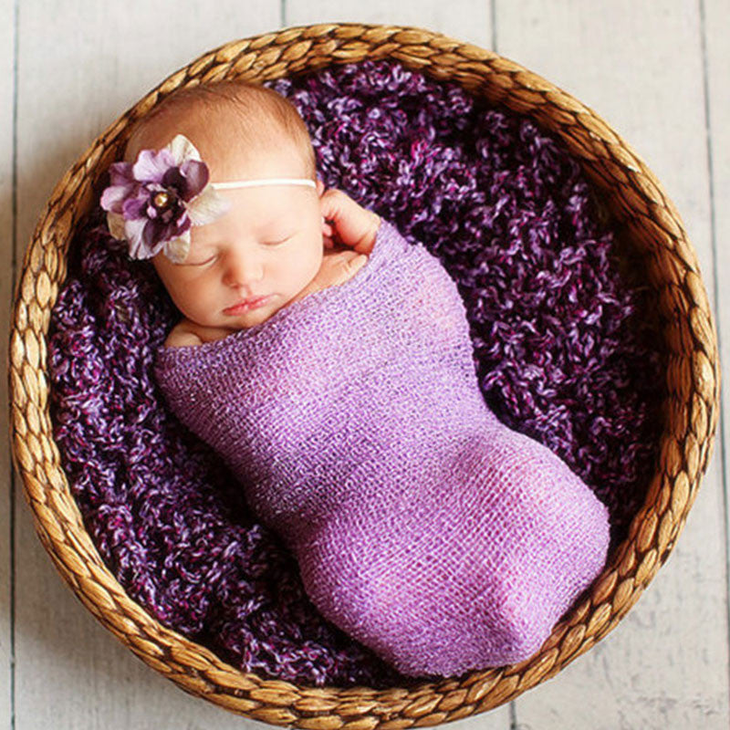 Newborn Photography Props Infant Costume Outfit Cotton Soft Photo Wrap