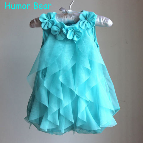 Humor Bear Girls Birthday Party Dresses Baby Girls Summer Dress Jumpsuits Toddler Infant Romper Dress Baby Clothes Baby Clothing