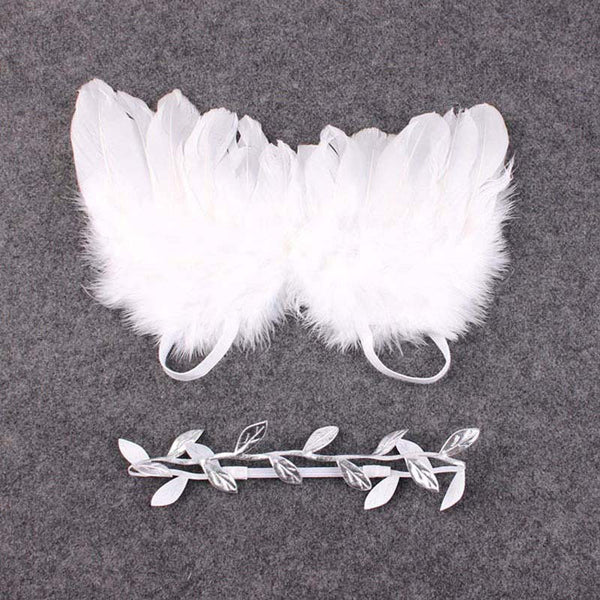 Angel Feather Wings Baby Girl Leaves Headband Hair Head Bands Photo