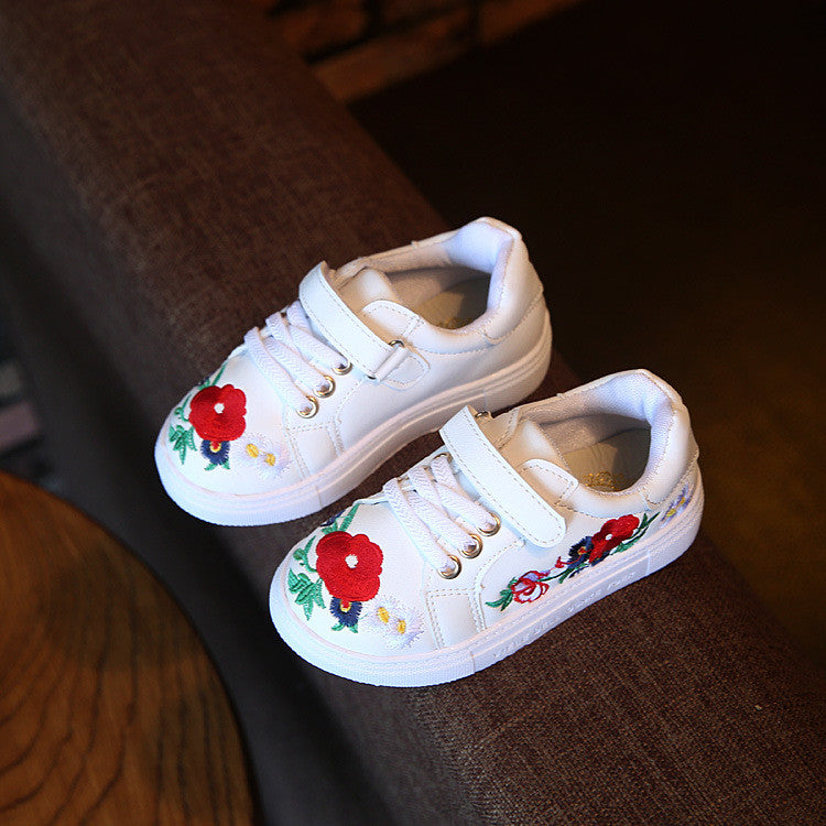 Autumn Children'S Shoes Girls Fashion Casual Shoes With Flower