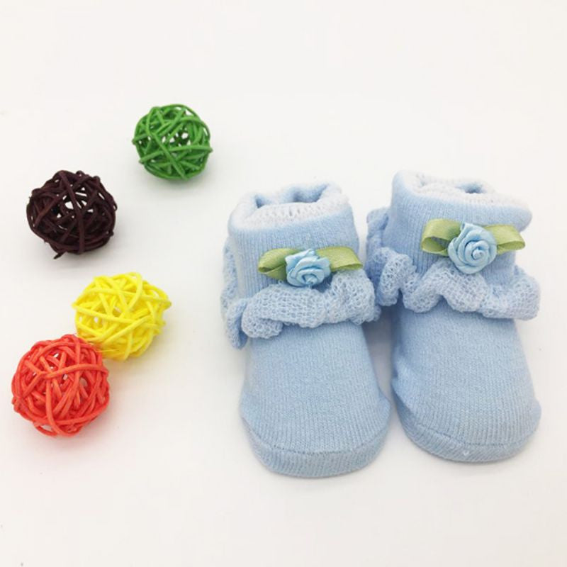 Baby Anti Slip Newborn 0-6Month Cotton Lovely Cute Shoes Flowers
