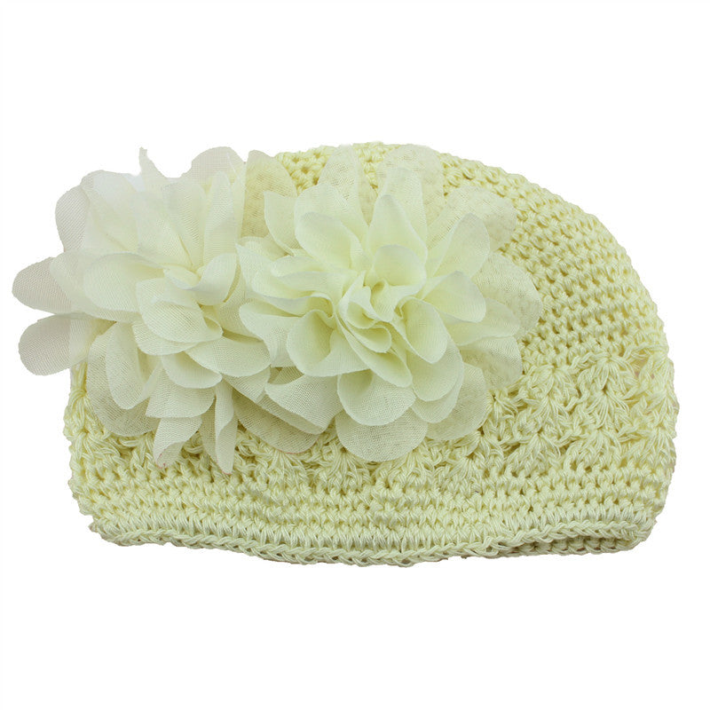 Artificial Fashionable Infant Newborn Crochet Beanie Knitted Hats with