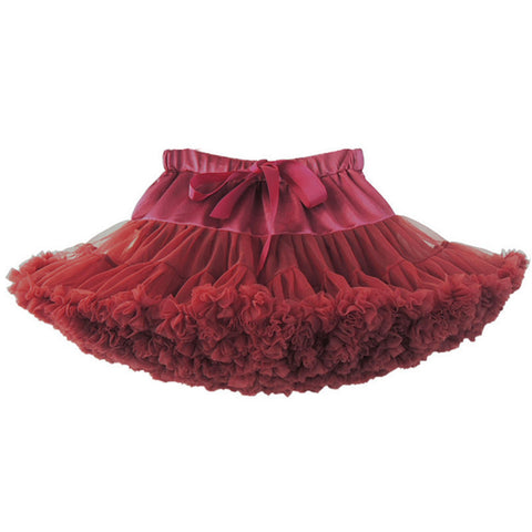 Baby girls tutu fluffy chiffon pettiskirt baby girls skirts Princess party tulle dance wear Skirts for girls 12Mo-8 Ys 21 Colors