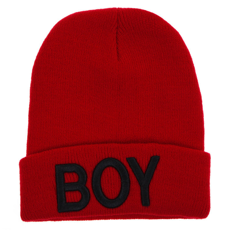 Baby Boys Hat Winter Autumn Spring Toddler Knitted Woolen Boy Letter