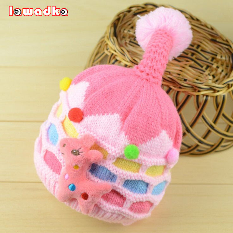 Cute Cartoon Baby Hat Boy Girl Infant Toddle Knit Soft Winter Thick