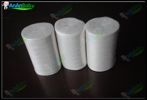 Free Shipping 3 Rolls 100 Sheets Per Rool Biodegradable Viscose Flushable Liners For Cloth Diapers