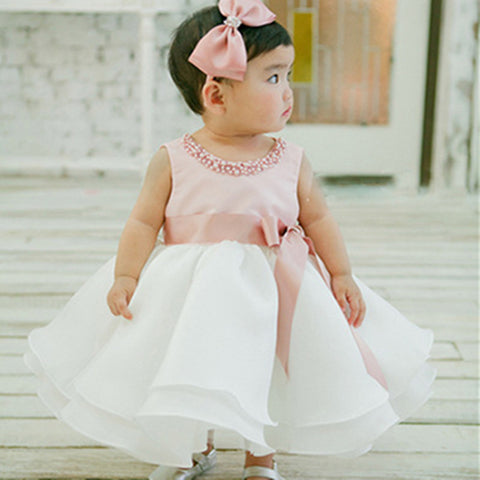 Summer Baby Girl 1 Year Birthday Dress 0-2Y Infant Toddler Baby Girl Baptism Christening Wedding Birthday Party Princess Dress