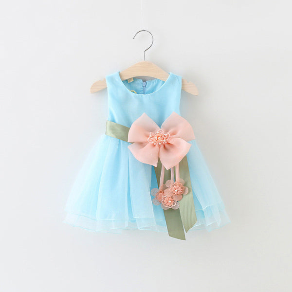 Malayu Baby 2016 New Girls Birthday Party Dresses   baby girl's flowers Infant  dress cute Children's dresses baby clothes