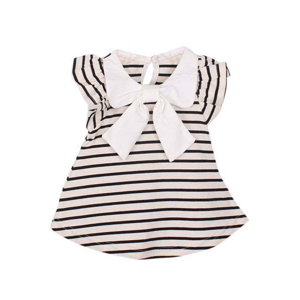 Baby Girl Dress Baby Girl Summer Cotton Striped Bow Dress Infant Clothing  Birthday Dress