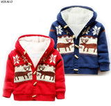 Baby snow wear coat Thick Climbing Clothes Newborn Boys Girls Warm sweater Jacket winter Christmas Deer Hooded Outwear