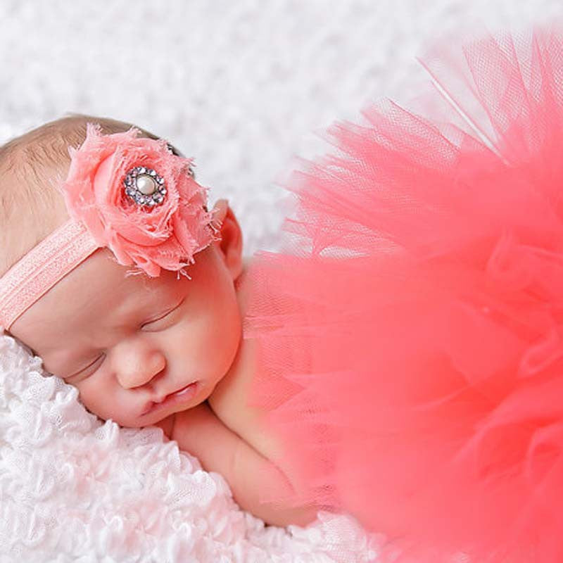 9 Styles 2016 Headband and Tutu Baby Skirt Set Newborn Photography