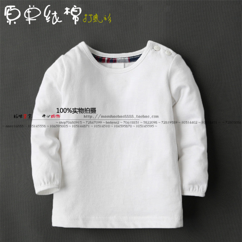 Basic shirt female child top all-match baby t-shirt children's