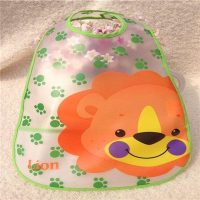 Adjustable Baby Bandana Bibs EVA Plastic Waterproof Lunch Bibs Infants