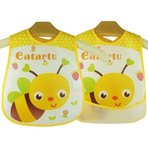 Baby Bibs EVA Waterproof Lunch Bibs Boys Girls Infants Cartoon Pattern