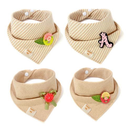 New High Quality Moms Care Brand Newborn Baby Bibs Kids Girls And Boys Cotton Triangle Children Feeding Accessories Apron Cute