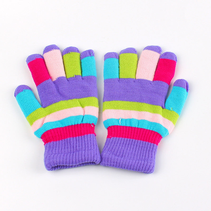 New Kids Gloves Winter Warm Infant Glove Thickened Double Layer