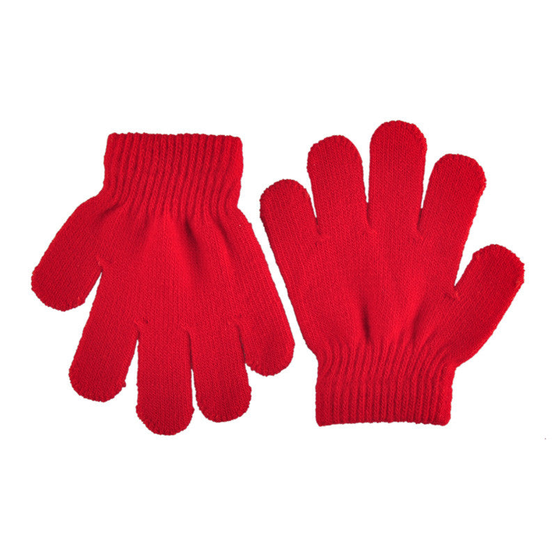 Boys' Baby Clothing Gloves Cute Winter Baby Gloves Mittens Children Full Finger Keep Warm Solid Colors For Sport Cycling Fishing Snowboard Running
