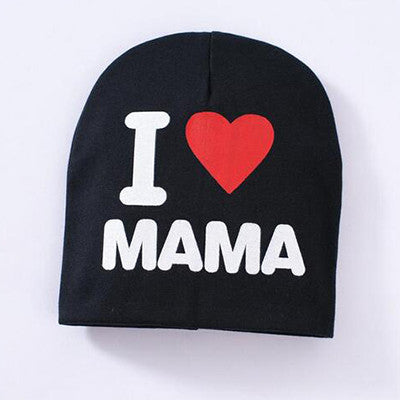 Baby Hat Girl Boy I LOVE MAMA Newborn Toddler Infant Kids Cotton Cap