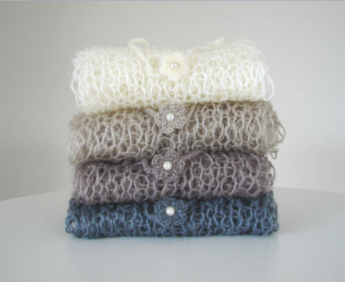 60*30mm,Hand Knit Mohair Wraps Mohair Wrap Newborn Photography Wraps