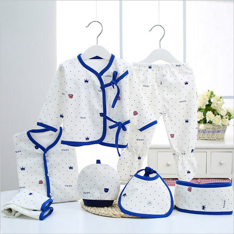 d1566fcea545 Newborn Baby Clothing Set gift 100% Cotton Infant Full Month Clothes ...