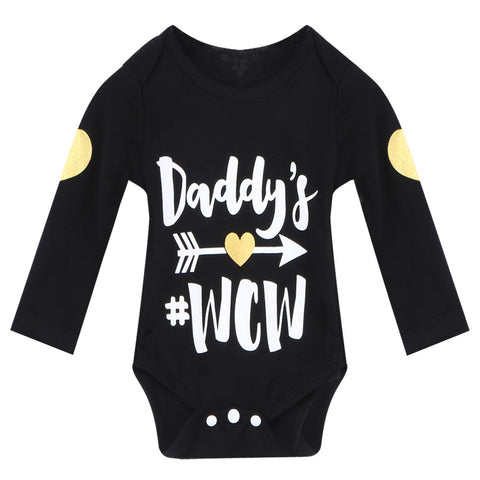 Fashion Baby Girl Boy Winter Clothes Newborn Letter Print Boysuit Baby Ropa Next Baby Long Sleeve Bodysuit