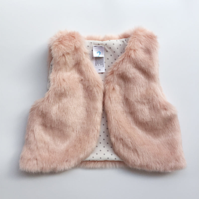 2017 Autumn Winter Baby Sleeveless Faux Fur Vest Baby Girl Winter