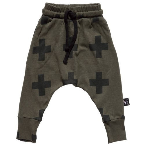 Baby Boy Harem Pants Kids Cross Star Pattern Pants 100% Cotton Girls
