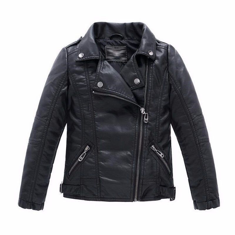 Baby Boys Faux Leather Jacket Kids Girls And Coats Spring Kids Jackets