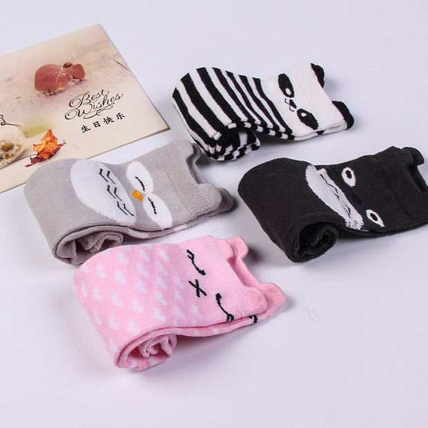 Kids Socks Cotton Knee Cute Cartoon Creative Animal baby Socks Girls