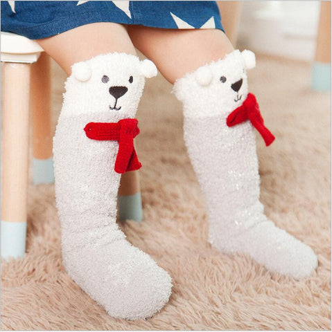 Xmas baby socks Newborn Toddler knee high socks Baby Boy/Girl elk Socks cotton Cute Cartoon Animal Cat leg warmers For newborns