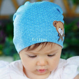 Hot 2016 Spring Winter Newborn Baby Girl Boy Polka Dot Crochet Cute Bear Cotton Beanie Cap Hat 10 Color Cheap Z1