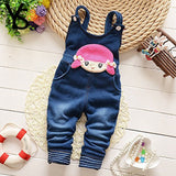 6M-4T Baby Girls Denim Overalls Rompers Infant Toddler Kids Jeans Jumpsuit huarache all for children Clothes Spring Winter