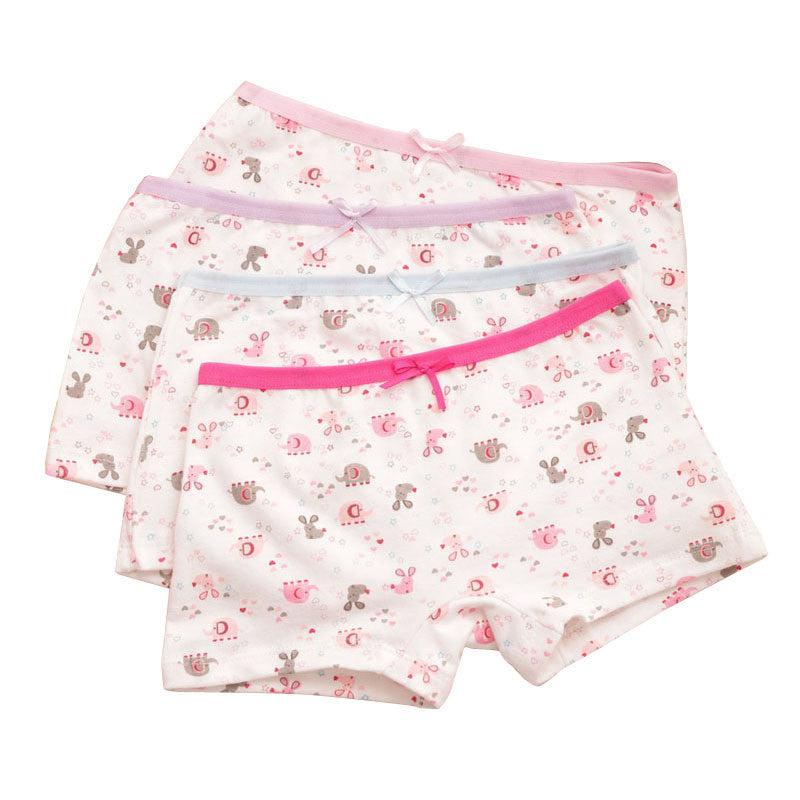 6pcs/lot Cute printing underwear baby Girls Sweet design Cotton