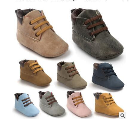 Brand Winter PU Outdoor suede Leather Baby moccasins Shoes infant