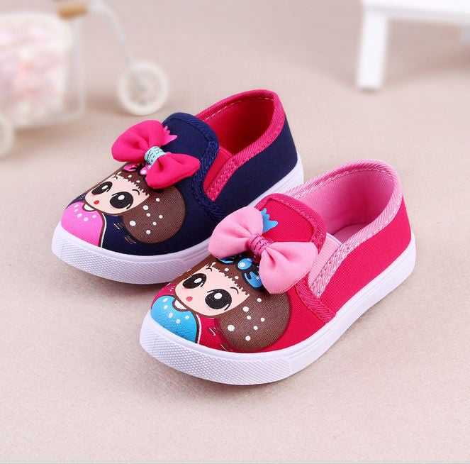 Autumn/Spring Kids Girls Fashion Sneaker Shoes Child Canvas Breathable