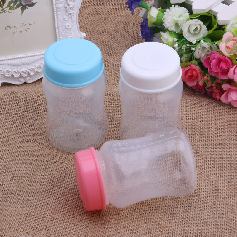 Baby Breast Milk Bottles 180ML Collection Storage Neck Wide Storage